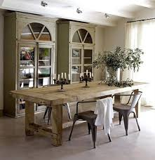 Country Style Dining Room Sets Rustic Round Tables 3