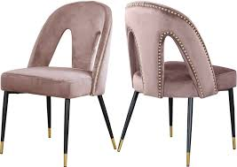 2 Meridian Furniture Akoya Pink Velvet Dining Chairs Mcr4502f Ding Chairs Fniture By Safavieh Ding Chairs Gold Coast Graysonline Brabbu Room Chair N 20 Gold Faux Leather Navy With Hdware Legs Askar In Black And Rose For Timeless Modern Style Alligator Embossed Leaf Table Set Cameron Beige Tufted Velvet On Stainless Steel Base Of 2 Meridian Akoya Pink Salvatore Grey