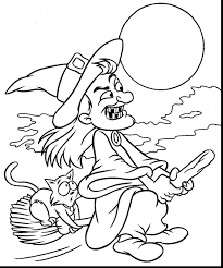 Printable Halloween Coloring Pages Pdf Great Adult Free Online Disney Characters Full Size