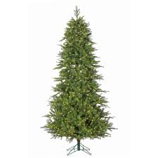 Pre Lit Shasta Pine Artificial Christmas Tree With Power Pole