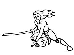 Coloring Page Ninja Save As