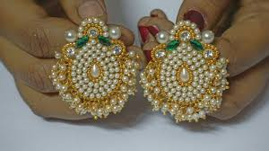How To Make Pearls Designer Earrings | Paper Earrings | Jewellery ... How To Make Pearl Bridal Necklace With Silk Thread Jhumkas Quiled Paper Jhumka Indian Earrings Diy 36 Fun Jewelry Ideas Projects For Teens To Make Pearls Designer Jewellery Simple Yet Elegant Saree Kuchu Design At Home How Designer Earrings Home Simple And Double Coloured 3 Step Jhumkas In A Very Easy Silk Earring Bridal Art Creativity 128 Jhumka Multi Coloured Pom Poms Earring Making Jewellery Owl Holder Diy Frame With