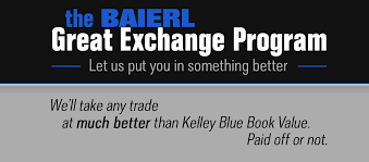 The Baierl Great Exchange Program | Baierl Automotive 2017 Nissan Maxima Earns Kelley Blue Book Best Resale Value Award Alfa Maserati Dealer Offering 120 Of Your Lease Trade In Question The Baierl Great Exchange Program Automotive Word Mouth Is Not Enough When It Comes To Car Shopping Gardendale Alabama Kia Dealership Serra Used Cars Calculator 2019 20 Upcoming New Hyundai Santa Fe For Sale At Taylor Vin Calamo Prices Ryazan Russia June 17 2018 Homepage Stock Photo Edit Now Luxury Buy Values Trucks Flood Faqs Affected Trade In Update