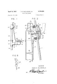 Tub Overflow Gasket Diagram by Patent Us2706298 Pop Up Bath Waste Google Patents