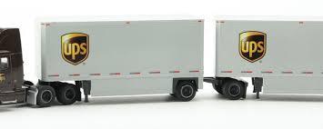 99 N Scale Trucks Stuff HO Model Vehicle VolvoDouble Trailer UPS