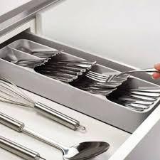 küche schublade organizer besteck trennung aufbewahrungsbox