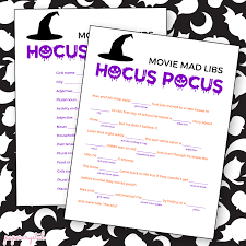Halloween Mad Libs Free by Hocus Pocus Mad Libs Love And Marriage