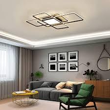 led deckenleuchte dimmbar wohnzimmerle deckenle mit fernbedienung modern acryl lenschirm aluminium design leuchte für schlafzimmerle