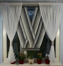 moderne gardinen wohnzimmer fensterdekoration schwarz