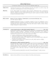 Business Management Resume Objective Project Job Examples