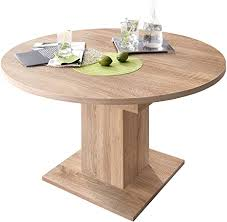 deine tante 0588 tisch rund 120 cm eiche sägerau dekor zip esszimmertisch küchentisch s