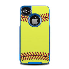 OtterBox muter iPhone 4 Case Skin Softball by Sports