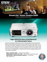Epson 8350 Lamp Replacement Instructions by Epson Powerlite Home Cinema 8350 Lcd Front Projector Pcrichard