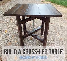 an easy to build industrial rustic end table u2013 designs by studio c