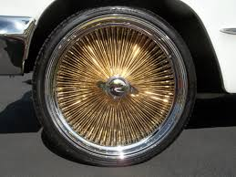 Gold Wire Wheel Rims Classic Lowriders Pinterest