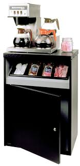 Office Coffee Stand With Condiment Tray 24