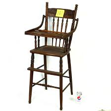 Wooden High Chair No Tray Vintage – Hellochange.co