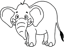 Zoo Animals Coloring Pages For Preschoolers Page Free Tropical Cartoon Wild Elephant Printable Colouring Full