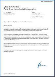 exemple lettre de motivation cuisine lettre de motivation candidature spontanée cuisine collective