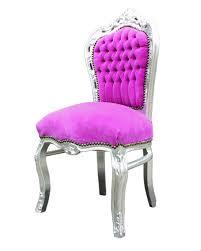 barock esszimmer stuhl pink silber