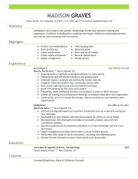 Resume Examples For Salon Job Feat Manager Cover Letter Frame Amazing Samples