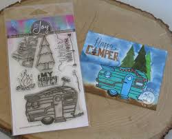 Happy Camper Clear Stamps