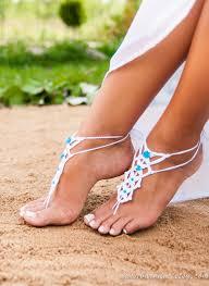 pied de le blanc sandale nu pieds blanc crochet nu pieds sandales de plage