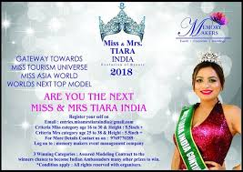 ARE YOU THE NEXT MISS MRS TIARA 2018 Miss Mrs Tiara India Evolution Of Beauty Its A Privilege To Search New Talent