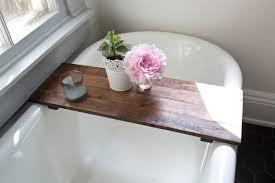diy bathtub caddy with reading rack rustic wood bathtub tray walnut bath tub caddy wooden