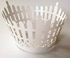Amazon 12 Pcs Picket Fence Design Cupcake Wrappers For Standard