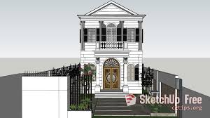 Neoclassical House 2131 Exterior Neoclassical House Sketchup Model By Dan Arc