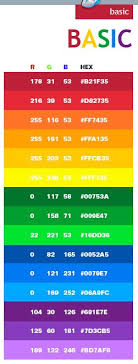 Basic Color Schemes Combinations Palettes For Print CMYK And Web
