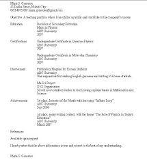 Resumes For Teachers Examples Sample Secondary Teacher Resume Nice Samples