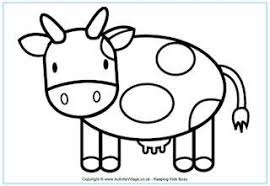 Coloring Pages Printable Cow For 2 Year Olds Animal Farm Sample Printables Toddlers Wallpaper White