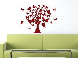 wandtattoo lebensbaum deko aufkleber für wohnzimmer baum schmetterlinge