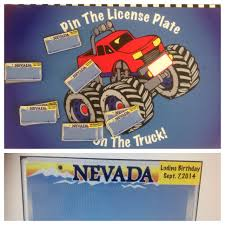 Pin The License Plate On The Monster Truck..done On A Magnetic Board ...