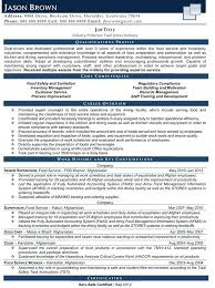 Sample Resume Of Restaurant Supervisor Plus Samples To Frame Astonishing Curriculum Vitae