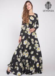 black daisy floral maxi dress with long sleeves black maxi