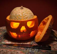 Best Pumpkin Carving Ideas 2015 by How To Carve A Pumpkin Skull With An Exposed Squash Brain