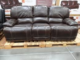 living room full grain leather sofa costco sleeper black