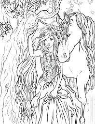 Unicorn Coloring Pages Realistic
