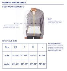 women u0027s windbreaker size chart u2013 janji