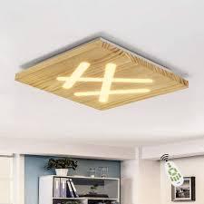 zmh led deckenleuchte aus holz acryl wohnzimmerle schlafzimmer 40cm 33w quadratische flurle küchenle kinderzimmerle innen beleuchtung