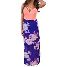women u0027s summer boho floral print long maxi dress evening cocktail