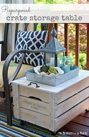Repurposed Wooden Shipping Crate Table