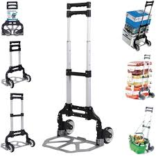 100 Hand Truck Vs Dolly Cart Folding Trolley Push Moving Luggage Utility