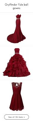 Gryffindor Yule Ball Gowns By Weeby Liked On Polyvore Featuring Fans Dresses