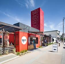 100 Shipping Containers California Container Food Hall Brings New Business To
