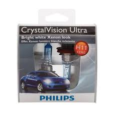philips crystalvision ultra 12362 h11 headlight bulb 2 pack