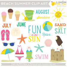 Beach Summer Clip Art Royalty Free Swimsuit clipart Bucket Ice